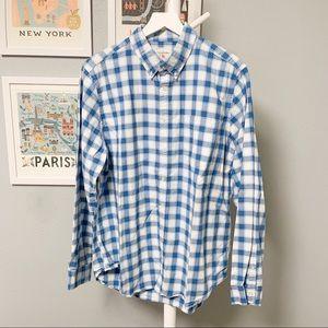 Gap Modern Oxford Checkered Button-Down Shirt XL